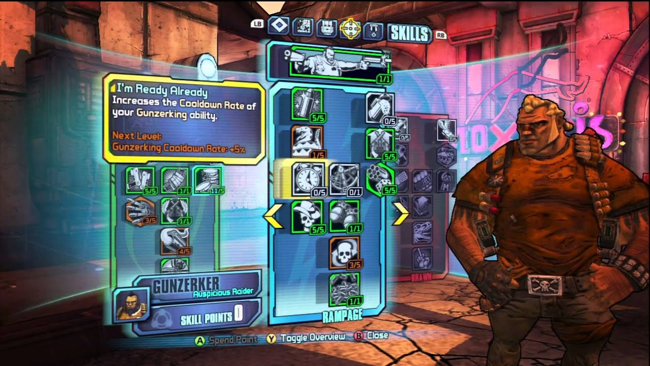 Borderlands 2 - Gunzerker Build - Max DPS Output - So Many Bullets!