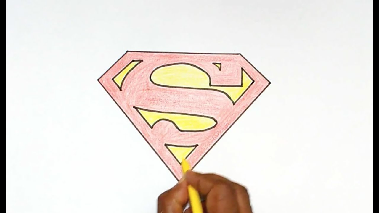 How To Draw The Superman Logo Youtube