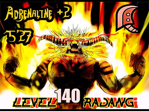 ┌MH4U┘ Lv.140 - Apex Rajang || Solo - 5'27 [Greatsword / Adrenaline+2]