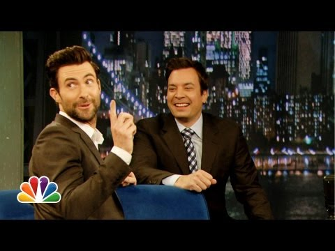 Adam Levine Does His Best Aaron Neville (Late Night with Jimmy Fallon)