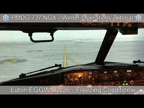 PMDG 737 NGX - REAL BOEING PILOT - Winter Operations Tutorial