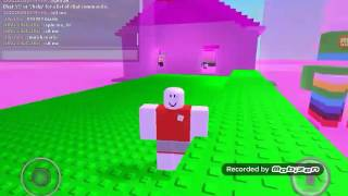 Roblox how to be small on Kohls Admin House NBC without shrinking back to normal