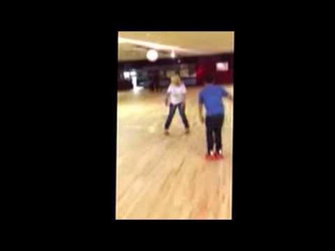 Diana Robertson skating backward