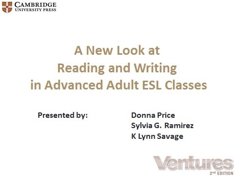 A New Look at Reading and Writing in Advanced Adult ESL Classes