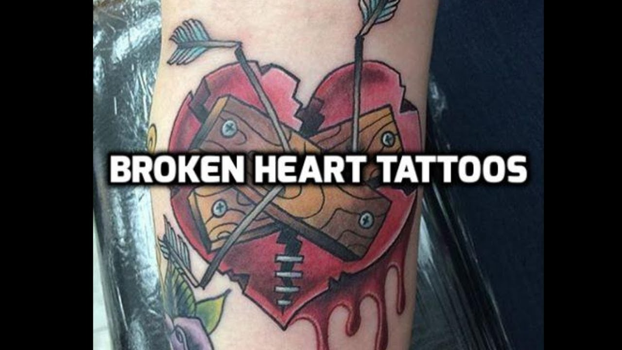 broken heart tattoo designs ideas youtube. Black Bedroom Furniture Sets. Home Design Ideas