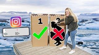 Schubse NICHT die FALSCHE MYSTERY BOX in den EISKALTEN SEE ! (Ihr entscheidet) | Max und Chris