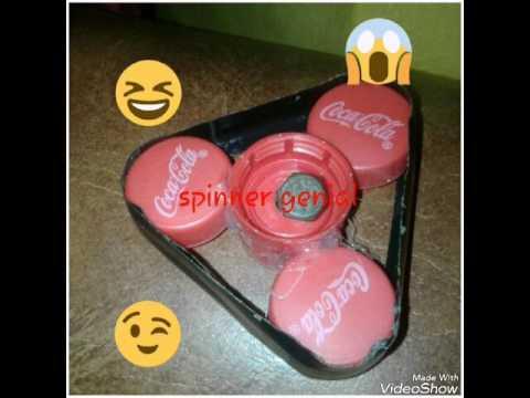 Como hacer un spinner con tapas de gaseosas tutorial facil - Tapas faciles de hacer ...