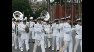 海軍樂隊總統府升旗退場 起錨歌
