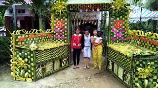 Cổng cưới lá dừa miền tây quá đẹp.. Cổng cưới Anh và Em 0983.350.365