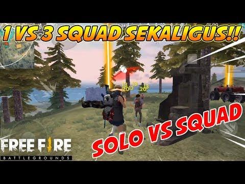 download SOLO VS SQUAD DIKELILINGI 3 SQUAD SEKALIGUS ?!?! - Garena Free Fire