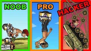 NOOB vs. PRO vs. HACKER - Hill Climb Racing 2 screenshot 5
