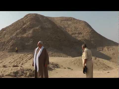 The Amenemhet III pyramid at Hawara. The Last Great Pyramid.  The bricks were made by Hebrew slaves.