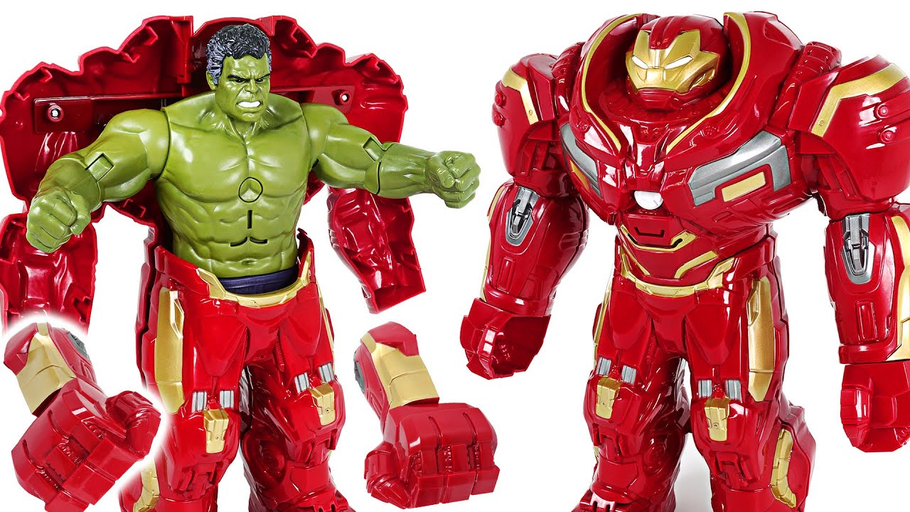 Download Red Hulk is angry! Go! Marvel Avengers Infinity War Hulk in Hulkbuster armor! - DuDuPopTOY