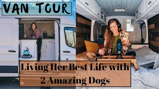 Van Tour: Solo Female, Entrepreneur, Lover for Dogs. Traveling in a Ford Transit Van Home on Wheels