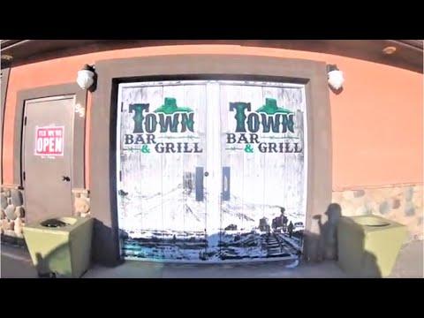 S2.E9 Town Bar & Grill door wrap