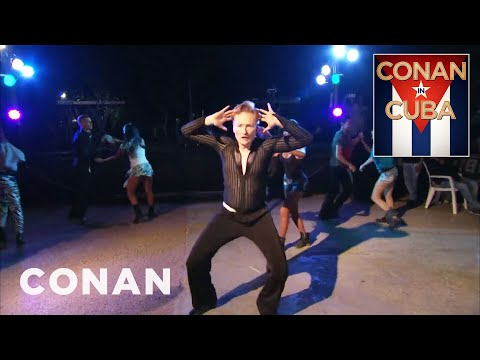 Conan Learns To Dance Cuban Rumba  - CONAN on TBS