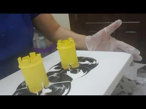 Акриловая заливка. Часть 1   Acrylic Pouring 1#0004