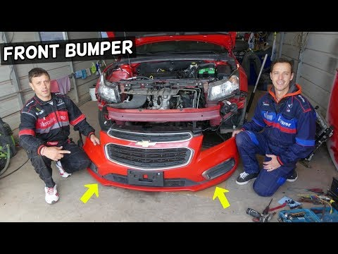 CHEVROLET CRUZE FRONT BUMPER REMOVAL REPLACEMENT. CHEVY CRUZE