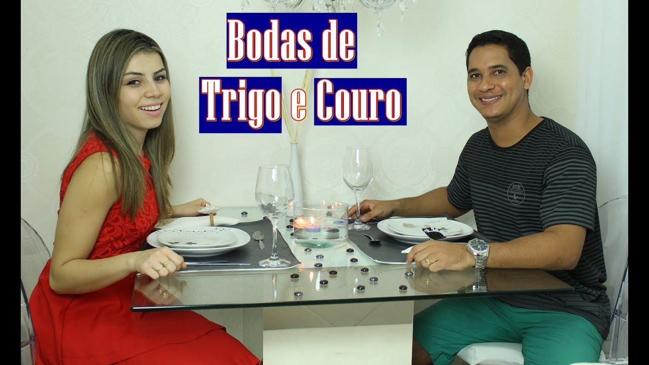 Bodas De Trigo E Couro Comemoração 3 Anos De Casados Paloma Soares