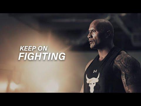 KEEP ON FIGHTING - Dwayne Johnson (The Rock Motivation)