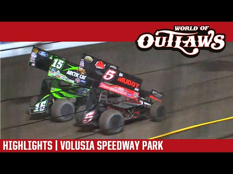 World of Outlaws Craftsman Sprint Cars Volusia Speedway Park February 19, 2017 | HIGHLIGHTS