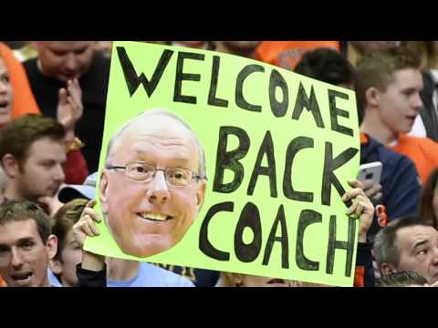Syracuse basketball coach Jim Boeheim returns from suspension (Video)