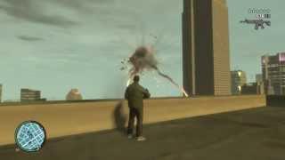 Война с полицейскими на верталёте ГТА 4 GTA 4