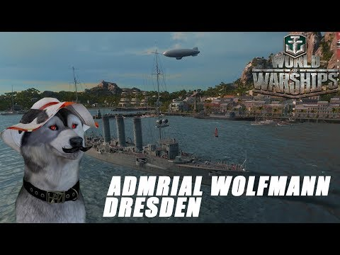 World of Warships Admiral Wolfmann auf Meer mit Dresden!