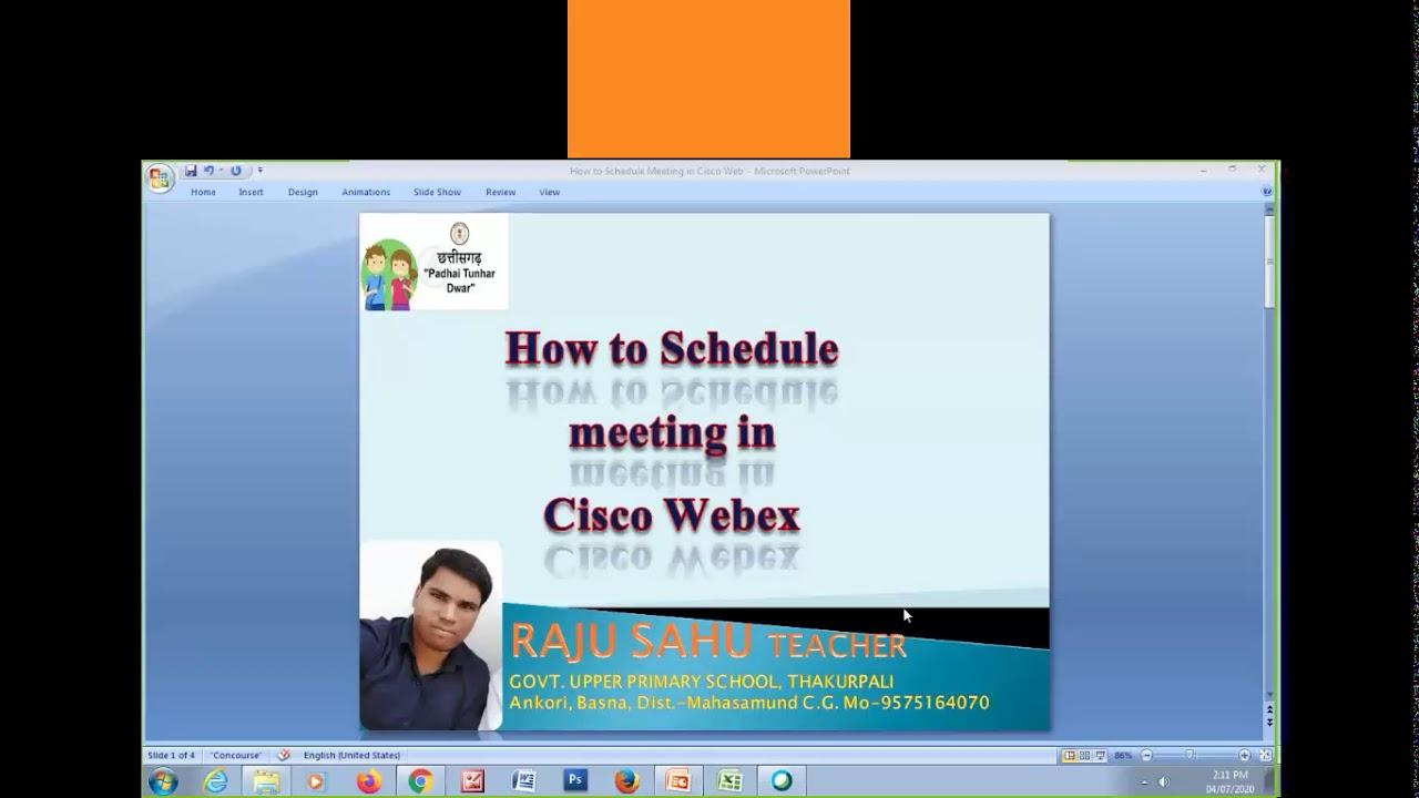 How to Schedule Meeting in Cisco WebEx - YouTube