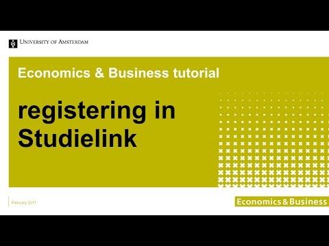 Tutorial: Registering in Studielink