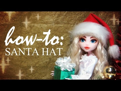 How To: Festive Doll Santa Hat Tutorial DIY