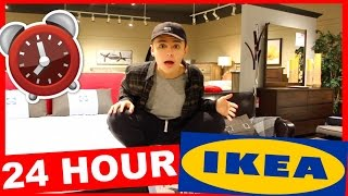 24 HOUR CHALLENGE IN IKEA | OVERNIGHT FORT!