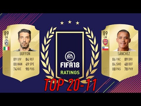 89 BUFFON A 89 SÁNCHEZ! 😱 20-11 FIFA 18 RATINGS