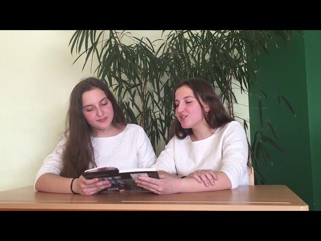 Изображение предпросмотра прочтения – «Дадашовы Карина и Дарья, 9а класс» читают произведение «Крохотки:Дыхание» А.И.Солженицына
