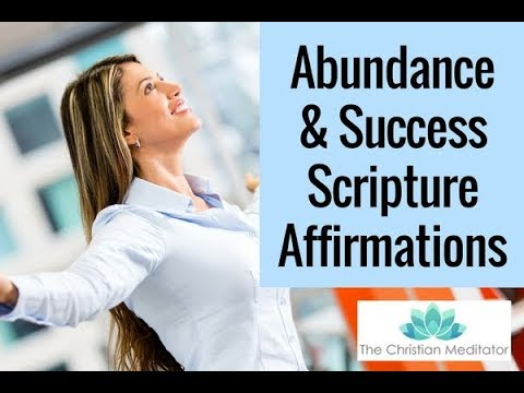 Christian Affirmations for Creating Abundance and Success