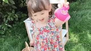 kirahosi 여아 여름 프릴 나시 아동 프린팅 스퀘…