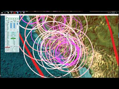 10/11/2017 -- West Coast + Midwest USA Earthquake Activity -- Forecast areas being hit now