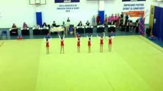 Ansamblul Timisoara gimnastica ritmica - la Arad  02.11.2013