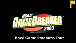 NCAA Gamebreaker 2003 Bowl Game Stadiums (4K60FPS)