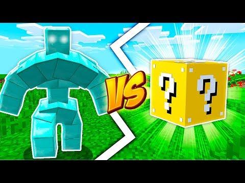 GOLEM DE DIAMANTE VS LUCKY BLOCK - Minecraft