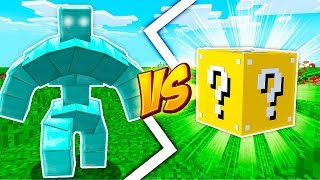 GOLEM DE DIAMANTE VS LUCKY BLOCK - Minecraft