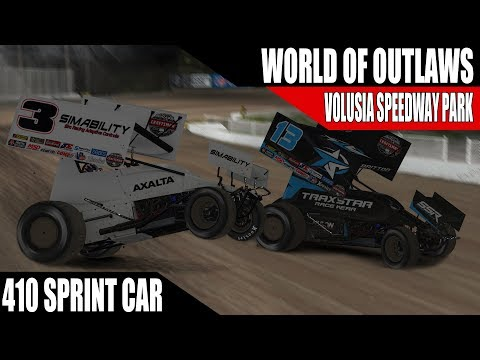 iRacing - World Of Outlaws Sprint Car Series @ Volusia Speedway Park W5 R1