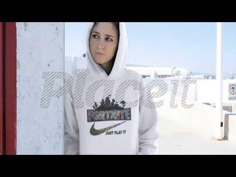 Fortnite Battle Royale X Nike Just Play It Logo Hoodie