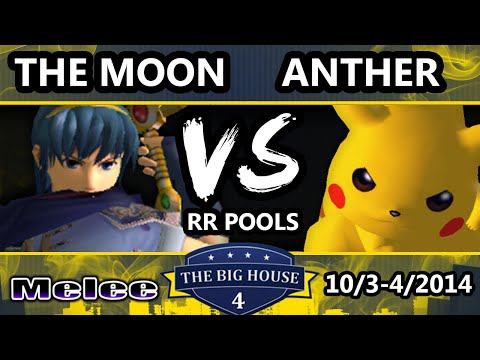 The Big House 4 - Anther (Pikachu) Vs. The Moon (Marth) - Pools Round 1 - SSBM