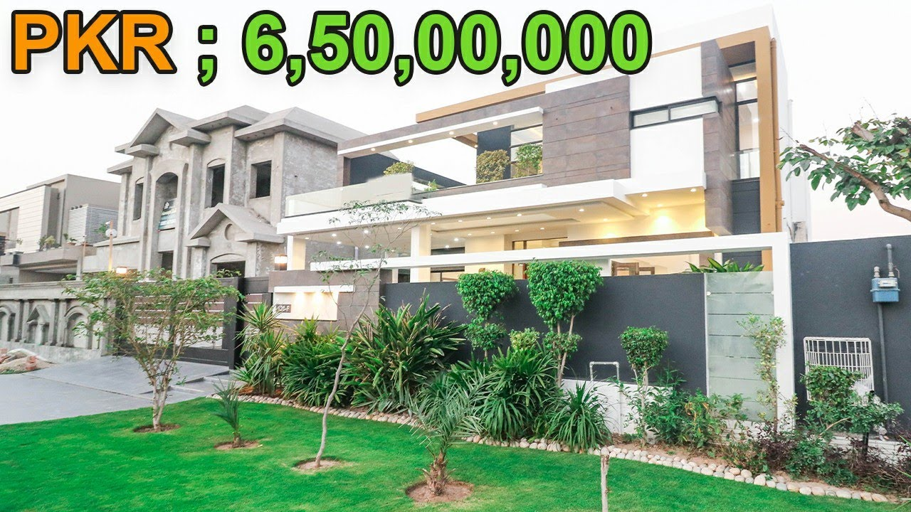 1 KANAL MODERN DESIGNER HOUSE IN PHASE 6 DHA LAHORE, DEMAND 6.50 CRORE, H No 85, By PRESIDENT GROUP