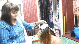How to highlight your hair at home I My easy way to blonde hair I Nazia khan