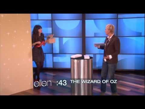 Zooey Deschanel and Ellen Play a Game