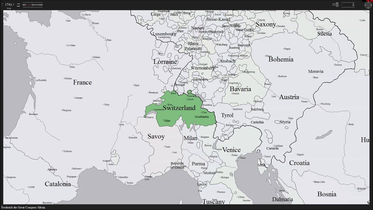 History Map of Switzerland YouTube