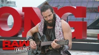 Elias performs in front of the Rock & Roll Hall of Fame: Raw Fallout, Dec. 11, 2017