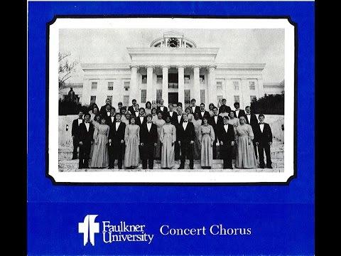Faulkner University Concert Chorus 1985 - 1986